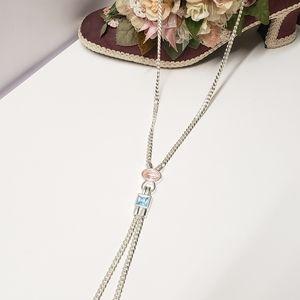 Gorgeous Monet Silver tone Statement Necklace